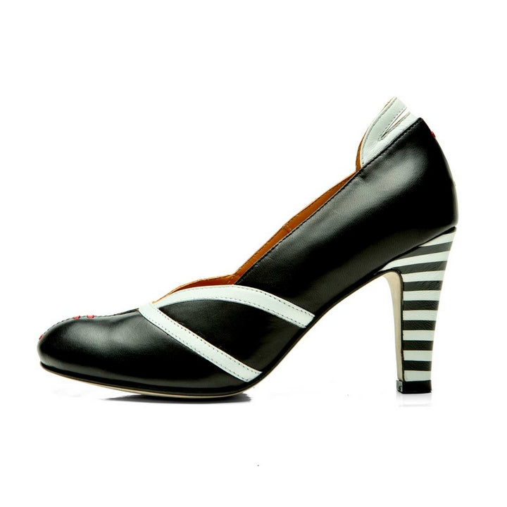 ESCARPINS NOIRS EN CUIR CITY PUMP PANEVA