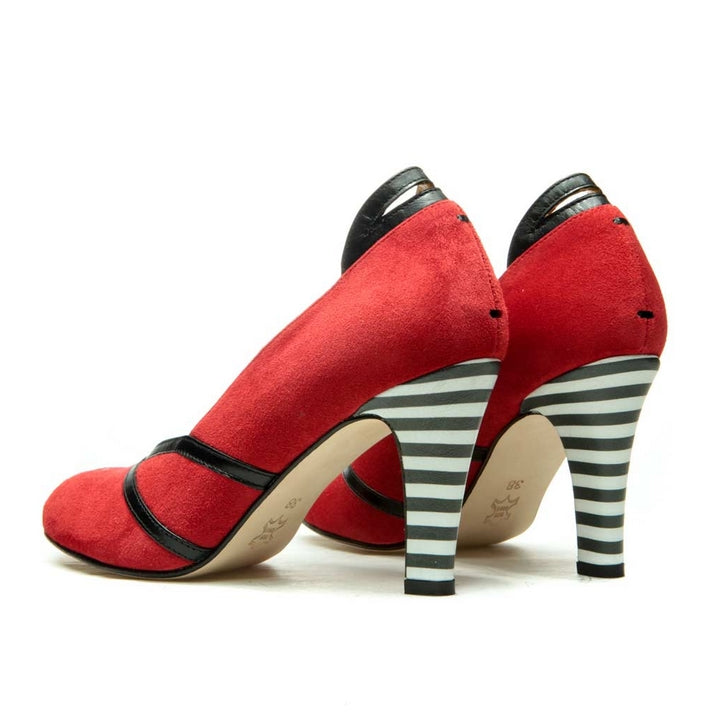 ESCARPINS CITY PUMP ROUGES EN CUIR PANEVA