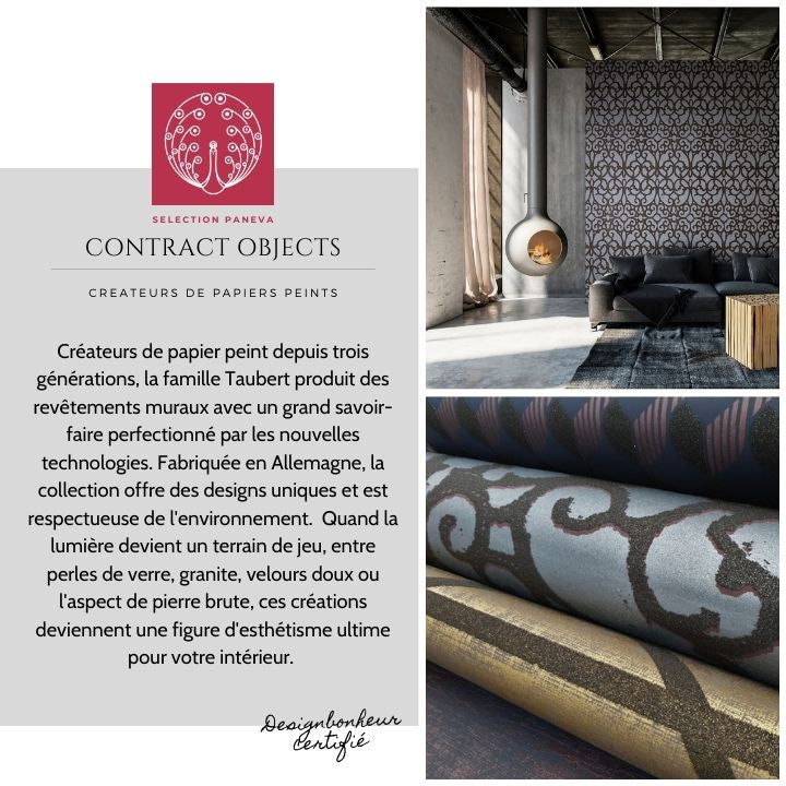 PRESENTATION CREATEUR PAPIER PEINT WALLPAPER CONTRACT OBJECTS PANEVA