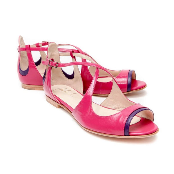 SANDALES SUMMER CITY ROSE EN CUIR PANEVA