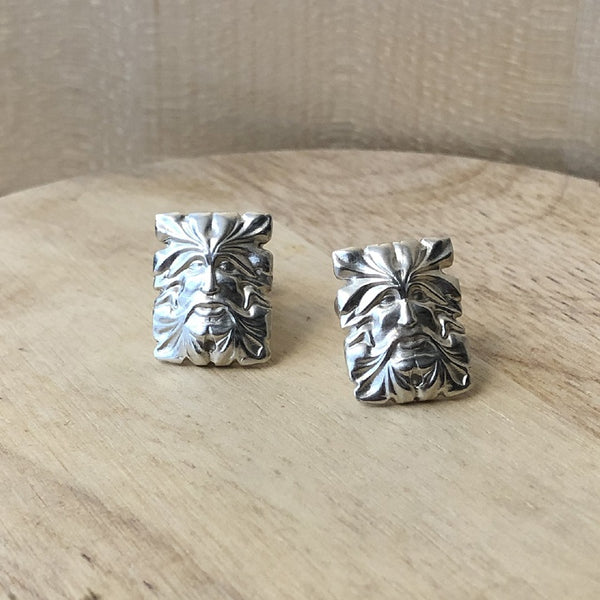silver cufflinks - green man collection - paneva