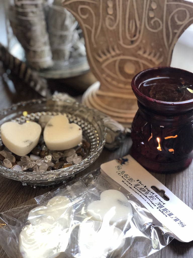 Sage Love Melts (4) Sage infused Soy Wax Melts-soy wax melts-TheYogiCloset