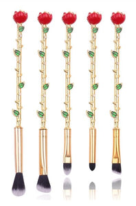 Beauty & The Beast Rose Brush Set - The Beauty Vault