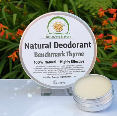 Natural Deodorant Benchmark Thyme - The Beauty Vault