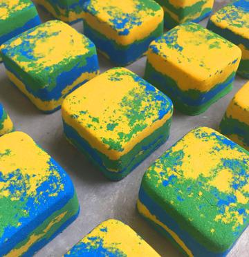Lemon Sherbet Bath Brick Bath Bomb
