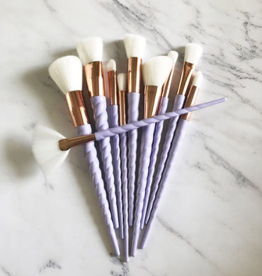 Lilac Unicorn Horn Brush Set - The Beauty Vault