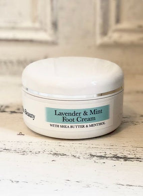 Organic Lavender & Mint Foot Cream - The Beauty Vault
