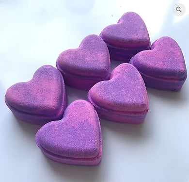 Parma Violet Heart Bath Bomb - The Beauty Vault