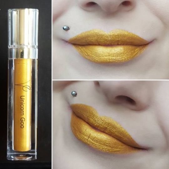 Unicorn Goo (Metallic Liquid Lipstick) Gold - The Beauty Vault