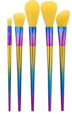 Rainbow Brush Set With Yellow Fibres - The Beauty Vault
