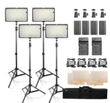 LED Video Lights with Stands (BATTERY POWERED/POWER ADAPTER) - The Ring Light Store