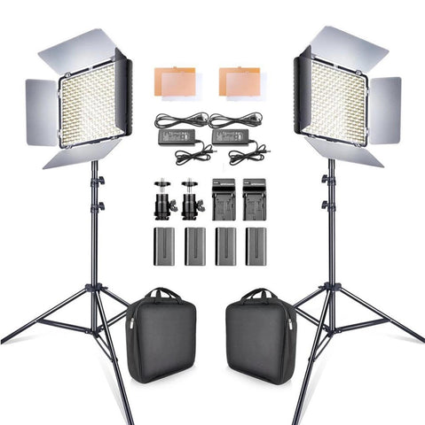 2 in 1 LED Video Light Kit With Tripod 5500K CRI 95 - The Ring Light Store