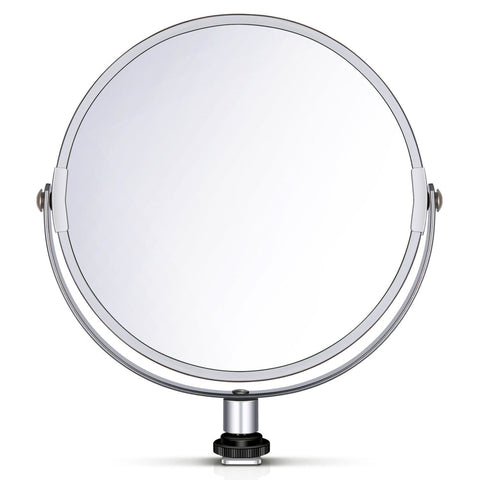 Double-Sided Selfie Magnified Circular Makeup Mirror - The Ring Light Store