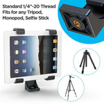 iPad/Tablet Tripod Mount Adapter Universal Tablet Clamp - The Ring Light Store