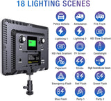 2 Set RGB Video Lights with Stands (2800K-9900K) LED Panel Light - The Ring Light Store