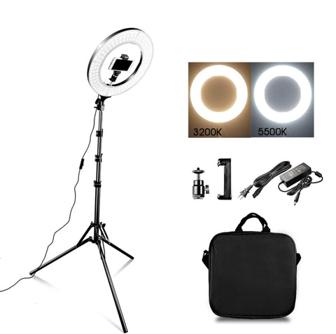 LED Ring Light With Stand For Smartphones & Digital Cameras