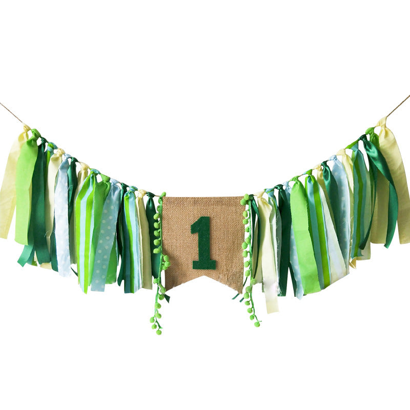 Woodland Highchair Banner Forest Party Decor 1st Birthday