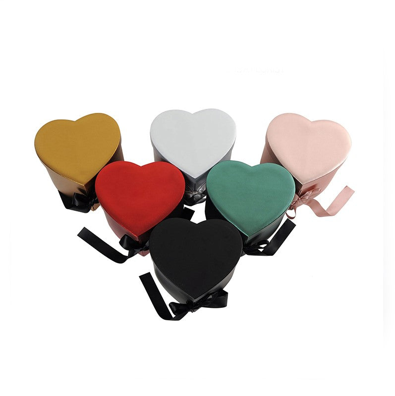 Love Heart Gift Cardboard Creative Wedding Favor Valentine's Day Florist Party Hand Gift Flower Decoration Packaging Box