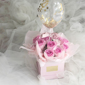 Square  Mini Gift Portable Box Packaging Flower Bouquet Box Wedding Favor Decoration Florist Packing Boxes for Floral