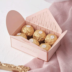 10pcs Retro Pink Wedding  Sugar Chocolate Box Gift Wedding Favors Candy Box Party Supplies Gift Packaging  Boxes