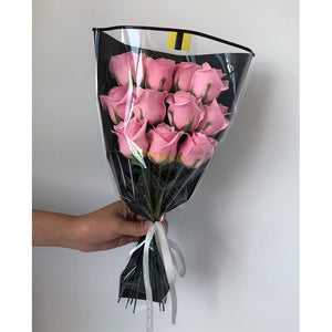 50pcs Wrapping Cellophane Bag for Florist Bouquet Valentine's Day Packing Flower Materials Floral Packagind Bags