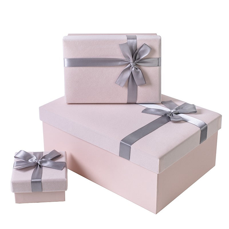 Rectangle Flannelette Gift Box Birthday Gifts Packaging Box Wedding Favor Decoration  Box for Bridesmaid Gift Pack Boxes