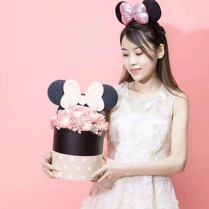 Lovely Transparent Holding Barrel Box Packaging Flower Bouquet Box Birthday Gifts Florist Package Boxes with Bow