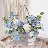 4pcs Double-Sided Kraft Paper Rectangular Bag Packaging Flowers Bouquet Bags Valentine's Day Gifts Florist Decor Bags