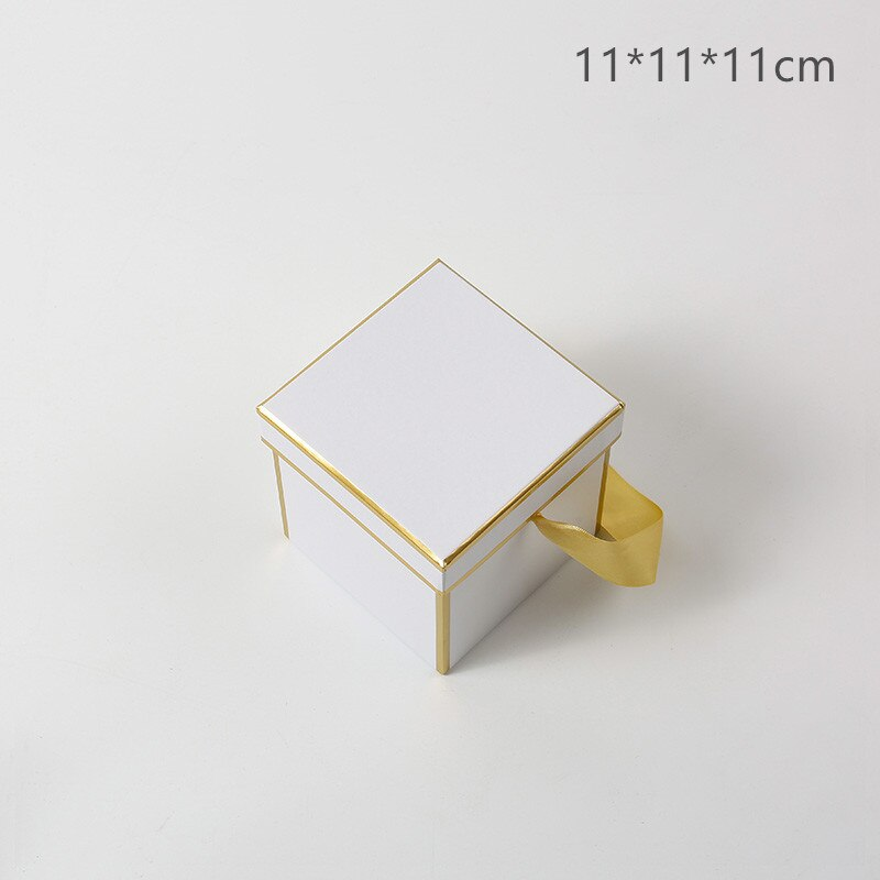 Classic Square Rectangle Box Packaging  Flower Bouquet Box Valentine's Day Gifts Package Box Florist Gifts Decoration Boxes
