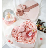 Romantic Heart-shaped Flannel Box Wedding Favor Packaging Flower Bouquet Box Bridesmaid Gifts Florist Package Boxes