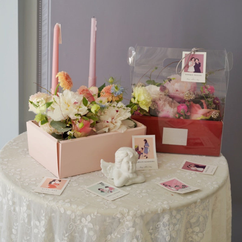 Transparent Carrying Flower Gift Boxes Luxury Floristry Bouquet Arrangements Surprise Rose Boxes Gift Rose Box