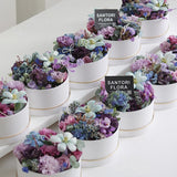 Simple Small Round Box Packaging Flower Bouquet Box Wedding Favor Gifts Florist Decor Souvenir Boxes
