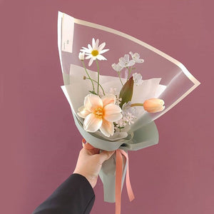 10pcs Simple Soft Matte White Translucent Paper Packaging Flower Bouquet Paper Valentine's Day Flowrisr Decor Materials