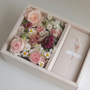 Simple Semi-Portable Box Packaging Flowers Gift Box Mother's Day Gifts Decor Boxes Package Floral Bouquet Box