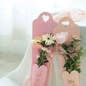 6pcs Fresh Flower Bag  Florist Bouquet Packing Kraft Paper Bags Box Valentine's Day Rose Bag Party Favor Decoration Boxes