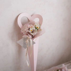 10pcs Romantic Single Heart-Shaped Bag Packaging Flower Bouquet Bags Valentine's Day Mother's Day Gifts Floral Decor Bags