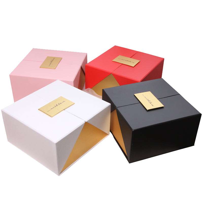 Creative Top Grade Stereo Clamshell Square Wedding Birthday Party Favor Flower Storage Box Wrapping Gift Decoration Boxes