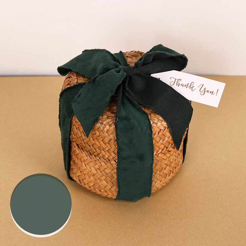 Rural Pastoral Breeding Basket Wedding Favor Florist Bouquet Box Natural Seagrass Woven Storage Decoration Rustic Baskets
