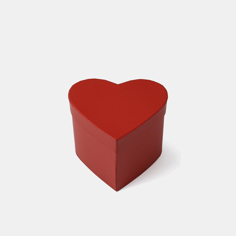 Solid Color Mini Heart Box Packaging Flowers Bouquet Box Valentine's Day Gifts Decor Boxes for Package Florist
