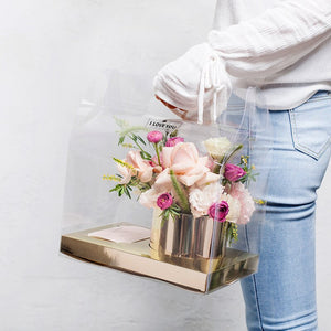 PVC Transparent Empty Flower Hand-Held Bag Gift Packing Rose Bouquet Birthday Party Favor Creative Decoration Bags