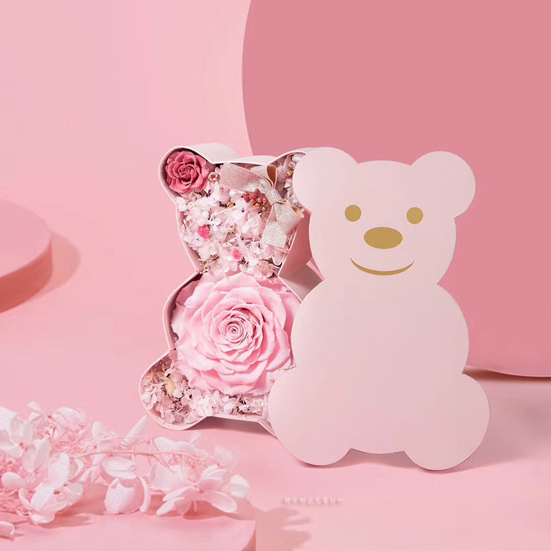 Cute Bear Box Packaging Flowers Bouquet Box Valentine's Day Gifts Decoration Box Package Florist Boxes