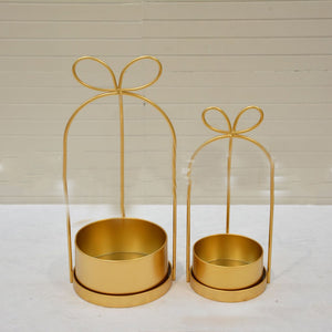 Metal Golden Flower Holders Wedding Decoration
