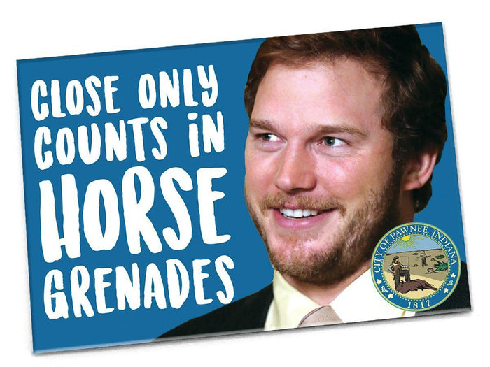 Andy Dwyer Horse Grenades Magnet