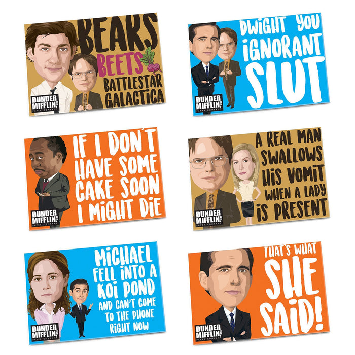 The Office Magnets, Set of 6