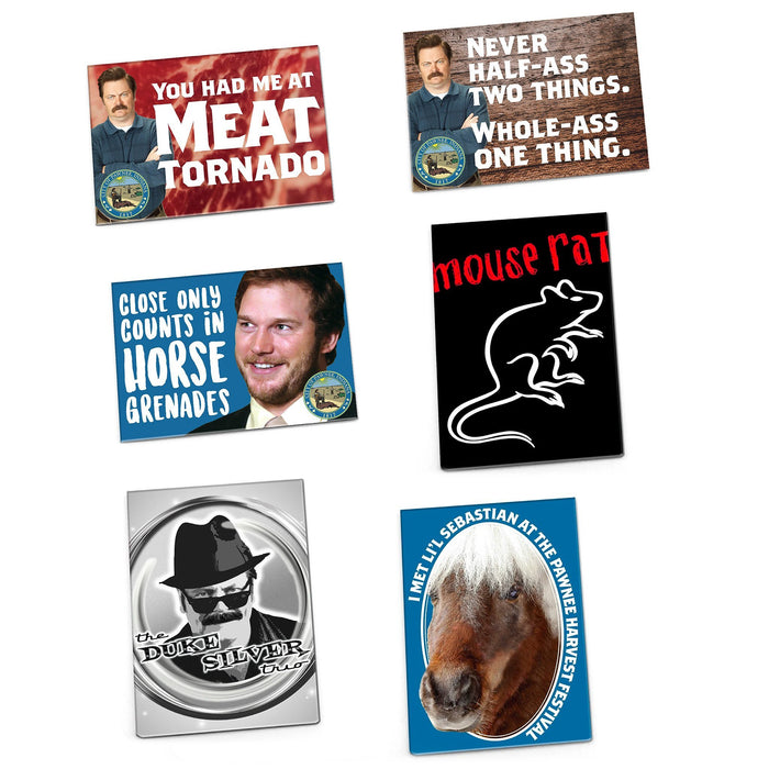 Parks and Recreation Magnets, Set of 6