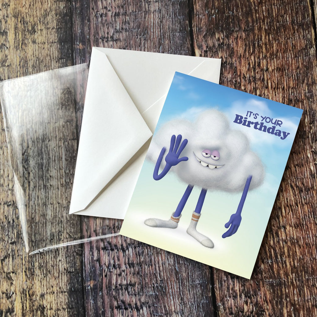 "Cloud Guy ""It's Your Birthday"" Card"