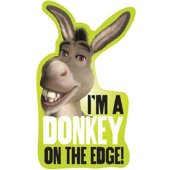 """I'm a Donkey on the Edge"" Kiss-Cut Sticker"