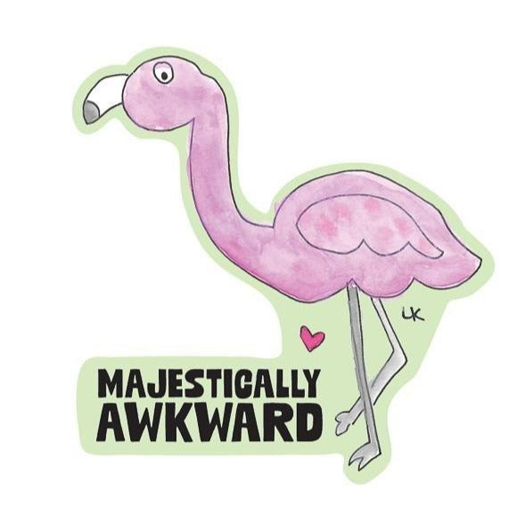 Majestically Awkward Kiss-Cut Sticker