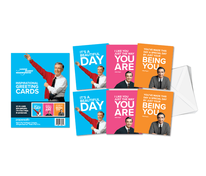 mister rogers greeting card set of 6