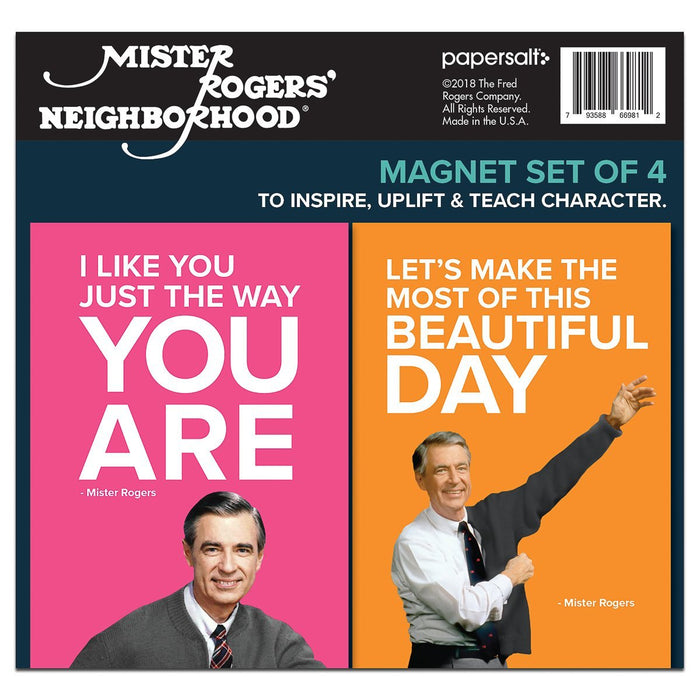 Mister Rogers Magnet Set: Mister Rogers Quotes, Set of 4